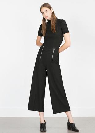 Укороченные брюки кюлоты zara