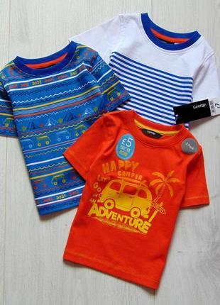 George. размер 12-18 месяцев. новый яркий комплект из 3-х футболок для мальчика
