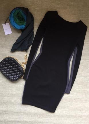 Классическое плотное платье с лампасами