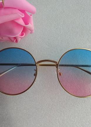 New 2019! новые яркие очки кругляшки, голубо-розовые