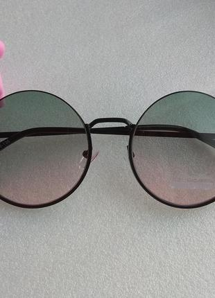 New 2019! новые модные очки кругляшки, зелено-розовые