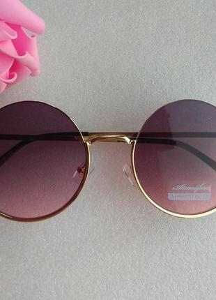 New 2019! новые модные очки кругляшки, темно-розовые