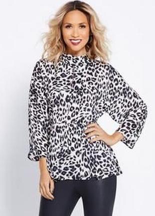 Атласная леопардовая блуза  myleene klass 48-50-52