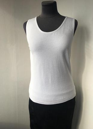 Италия! artigiano белый вискозный топ майка блуза, трикотаж