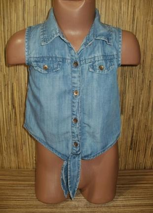 Летняя джинсовая рубашка 3-4 годика1 фото