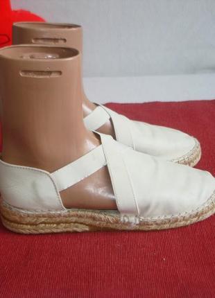 Кожаные туфли эспадрильи бренд bertie