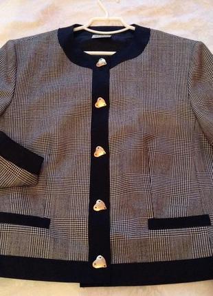 Мегастильный лёгкий шерстяной пиджак basler 44-46 евроразмер