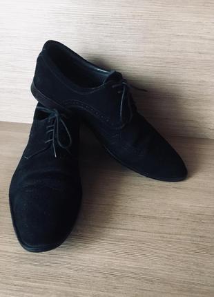 Сужские замшевые туфли