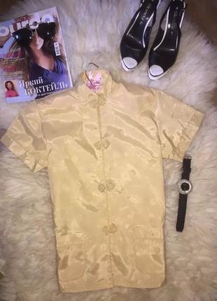 Крутая блуза золотого цвета . бренд youth