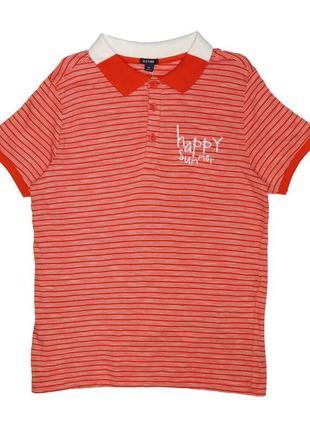 Новая оранжевая футболка поло для мальчика, kiabi, vy79401