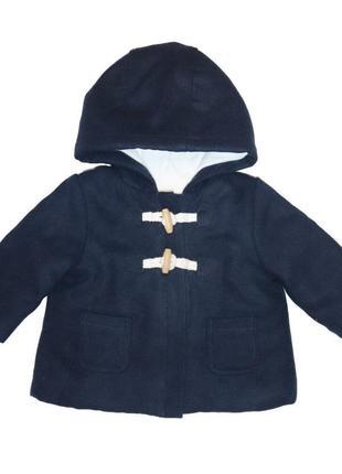 Новое темно-синее пальто для девочки, kiabi, vk120