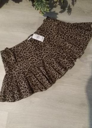 Брендовая юбка леопардовый принт select