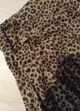 Брендовая юбка леопардовый принт select4 фото