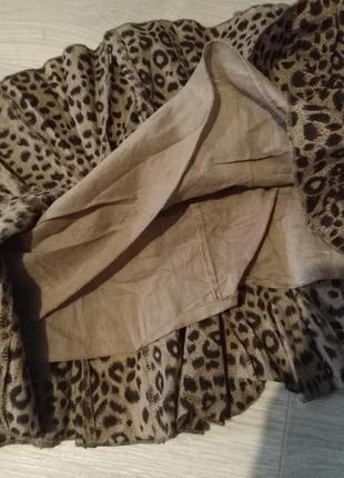 Брендовая юбка леопардовый принт select5 фото