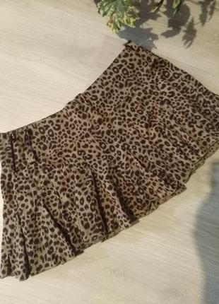 Брендовая юбка леопардовый принт select6 фото