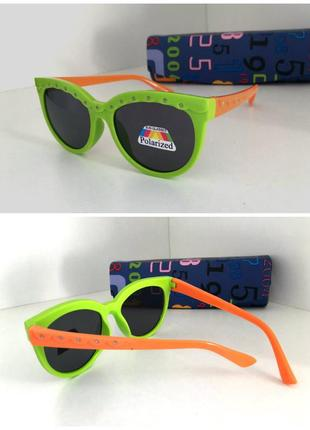 Детские солнцезащитные очки кошечки линзы поляризованные