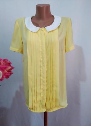 Шифоновая блузка с воротничком mint&berry.