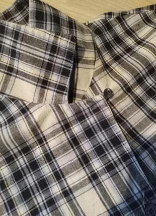 Рубашка 👚 клетка оверсайз boxfresh3 фото