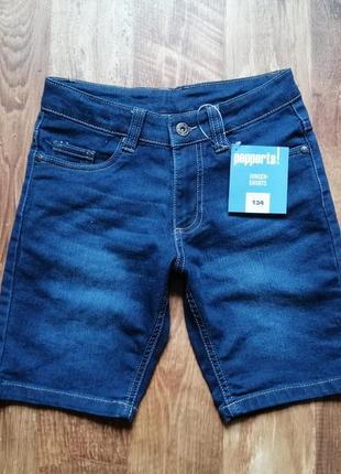 Джинсовые подростковые шорты для мальчика