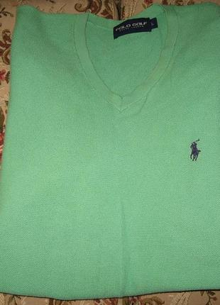 Пуловер polo golf ralph lauaren оригинал,р-р л,100%котон