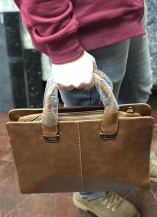 Сумка мужская портфель натуральная кожа