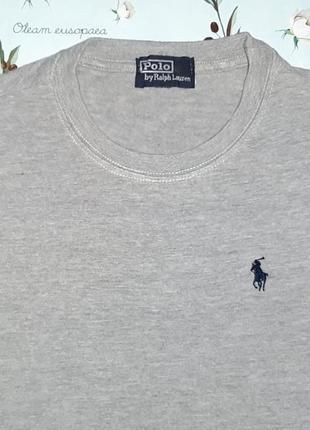 Акция 1+1=3 базовая серая футболка ralph lauren, размер 46 - 48