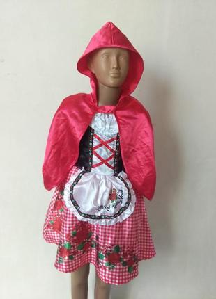 Карнавальное платье красная шапочка 5-6 лет
