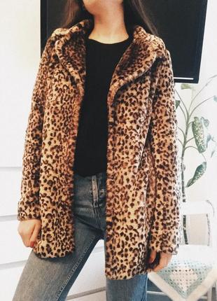 Супер тренд! леопардовая шуба/ меховое пальто4 фото