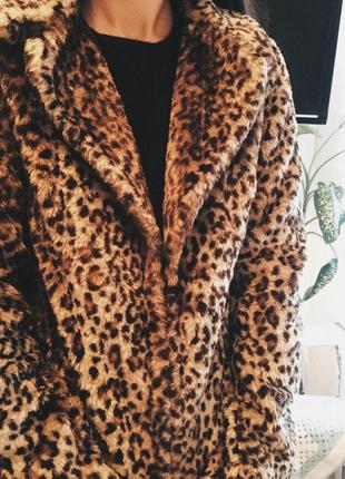 Супер тренд! леопардовая шуба/ меховое пальто3 фото