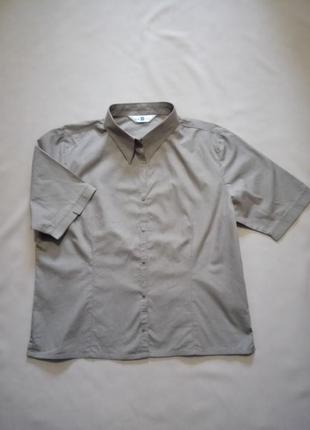 Новая хлопковая рубашка лето хаки размер uk 18