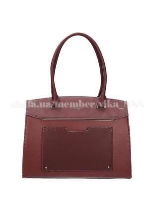 Женская прямоугольная сумка david jones 3932 бордо