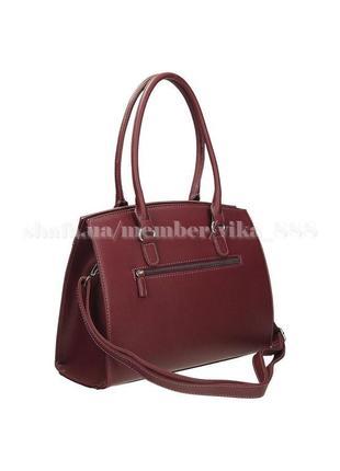 Женская прямоугольная сумка david jones 3932 бордо3
