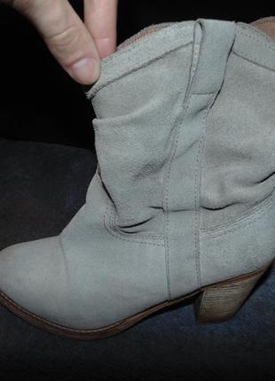 Сапоги ботинки из натуральной замши