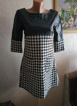 Платье кожа гусинве лапки s/xs
