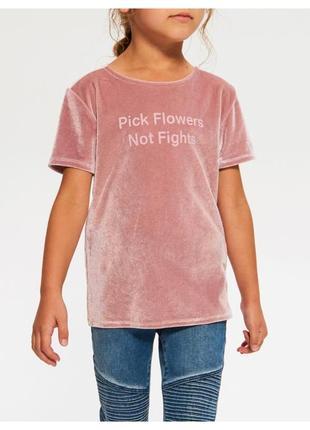 Велюровая футболка от reserved