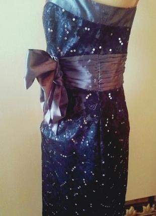 Красивое стильное вечернее платье футляр для выпускного