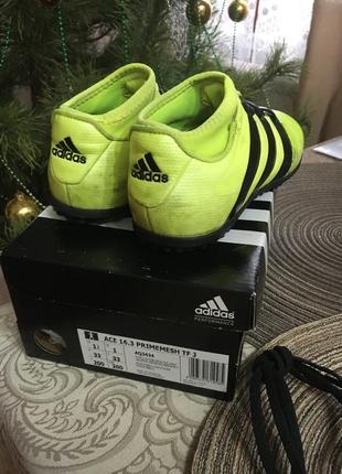 Футбольные бутсы сороконожки adidas