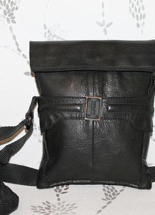 Кожаная сумка через плечо 100% натуральная кожа
