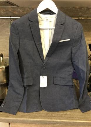 Шикарный школьный кэжуал пиджак h&m 13-14 лет на парня