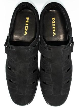 Летние туфли мида из натурального нубука.