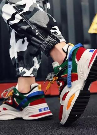 Хит 2019! яркие кроссовки/наложка7 фото