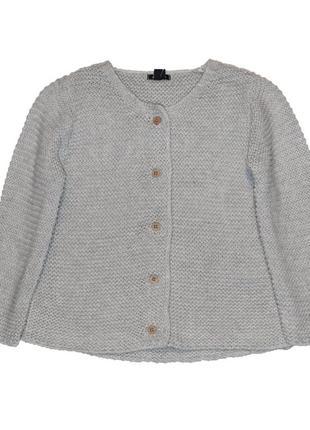 Новый вязаный серый свитер для девочки, kiabi, vk956