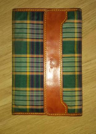 Мужской винтажный кошелёк tartan (шотландия)
