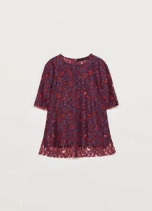 Блуза футболка кружево zara