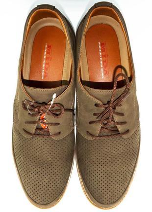 Туфли комфорт мида из натурального нубука.