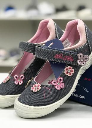 Текстильные туфельки на девочку tom tailor