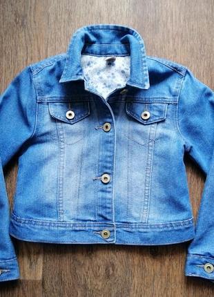 Красивая джинсовка tu 7-8 лет 122-128 рост