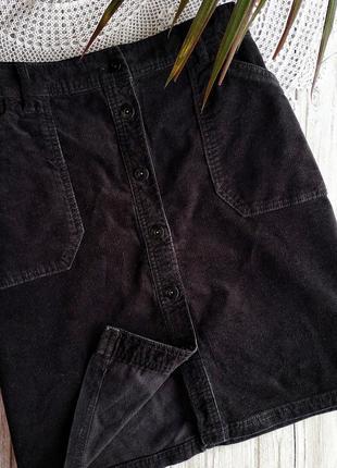 Вельветовая юбка с пуговицами m&s большого размера