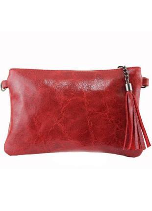 Кожаный красный клатч kate италия разные цвета