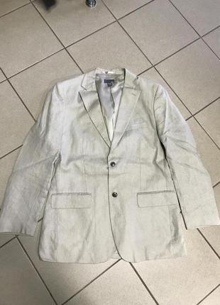 Жакет из льна фирменный стильный модный hm размер 50-52